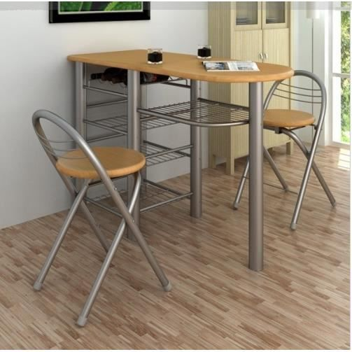 Lot d 39 une table de bar avec 2 chaises achat vente for Achat table bar