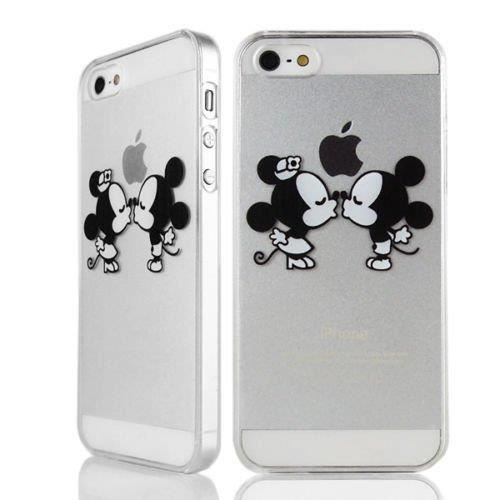 coque iphone 5 5s mickey minnie bisous swag film. Black Bedroom Furniture Sets. Home Design Ideas