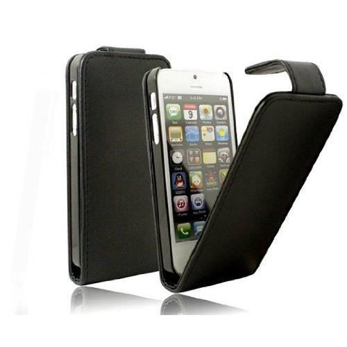 etui housse cuir iphone 4 4s noir achat coque bumper. Black Bedroom Furniture Sets. Home Design Ideas