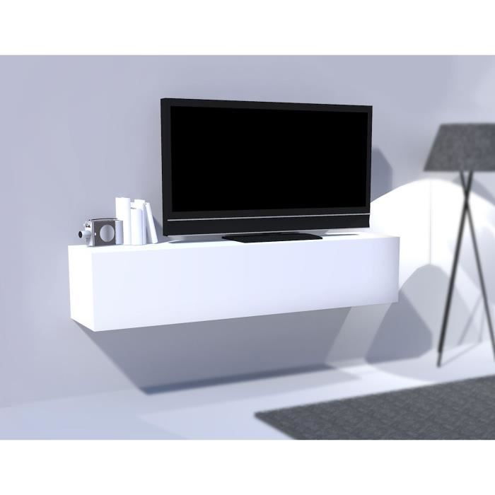 module de rangement horizontal laqu blanc 1 porte. Black Bedroom Furniture Sets. Home Design Ideas