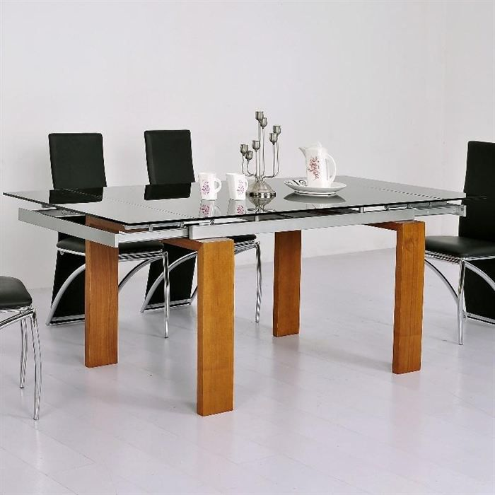 table a manger en verre extensible conceptions de maison. Black Bedroom Furniture Sets. Home Design Ideas