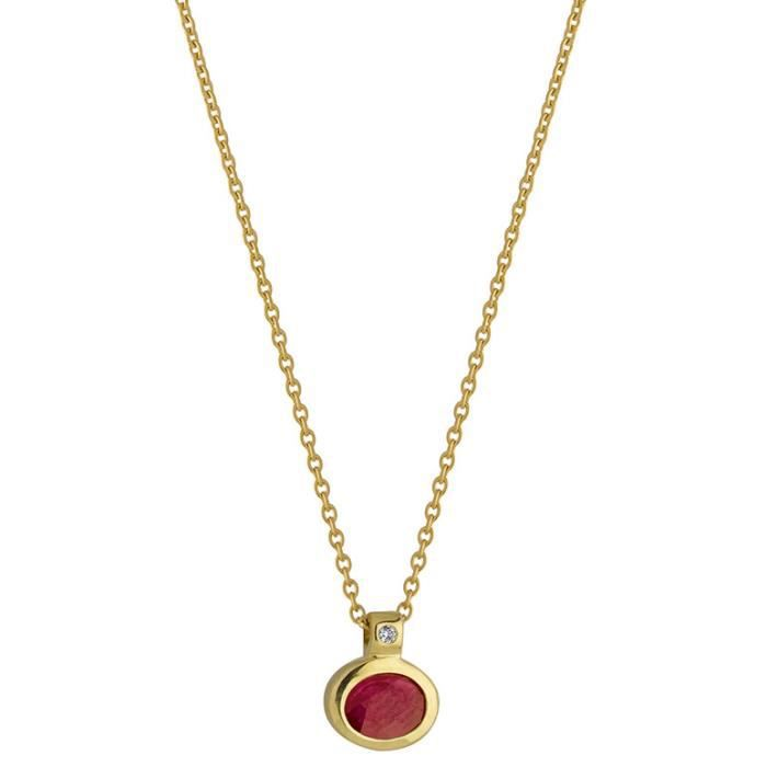 Diamantly Collier rubis or 18 carats