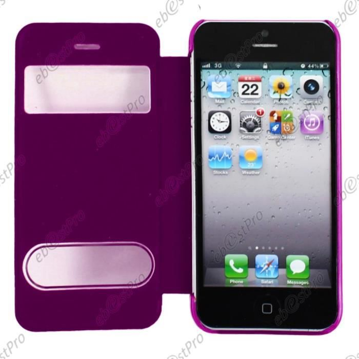 ebeststar apple iphone 5s 5 etui view film violet achat coque bumper pas cher avis et. Black Bedroom Furniture Sets. Home Design Ideas