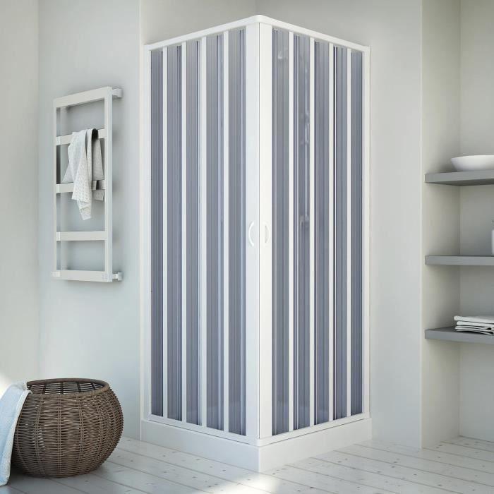 Cabine douche 70x70CM en acrylique mod Venere avec ouverture centrale