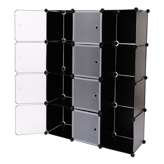 armoire plastique tag re penderie 145x109x37cm achat vente petit meuble rangement armoire. Black Bedroom Furniture Sets. Home Design Ideas