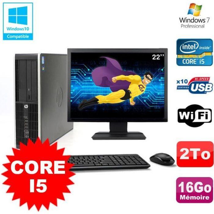 ORDI BUREAU RECONDITIONNÉ Lot PC HP Elite 8200 SFF Core I5 3.1GHz 16Go 2To D