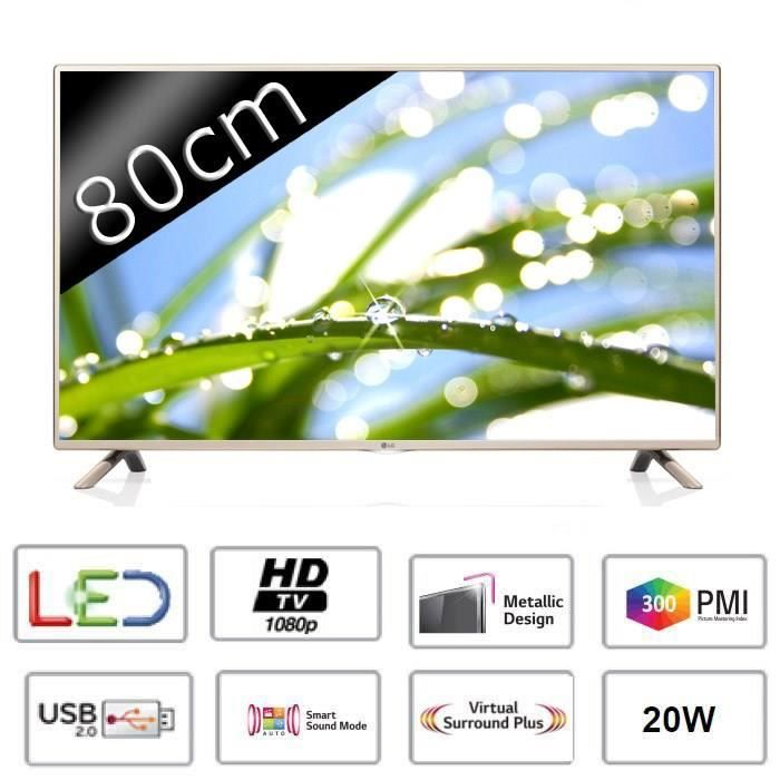 lg tv 32lf5610 full hd 1080p 80cm 32 pouces led 2 hdmi classe a t l viseur led. Black Bedroom Furniture Sets. Home Design Ideas