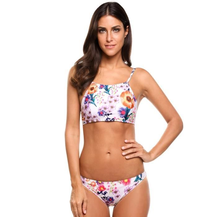 MAILLOT DE BAIN Maillots de bain Bikini Set Femmes Sexy Two Pieces