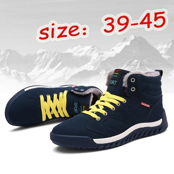 Chaussures Bottes style chaud de neige coton homme au plus hiver College garder Chaussures warmful Bottes Outdoor ZqwSUxaf