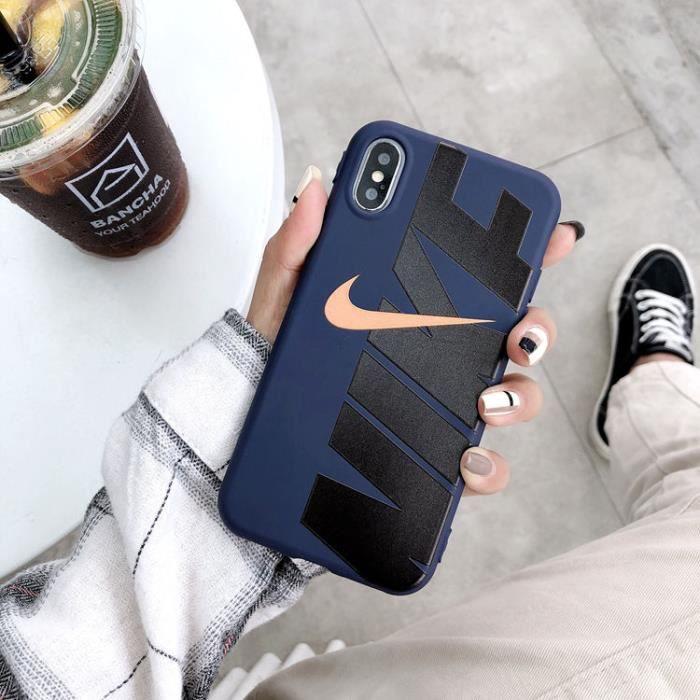 coque iphone 7 plus 8 plus nike bleu coque bumper