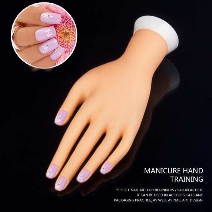 Mannequin Main Pour Nail Art Debutants Ongles Pratiquent Achat Vente Modele De Proportion Mannequin Main Pour Nail Art Cdiscount