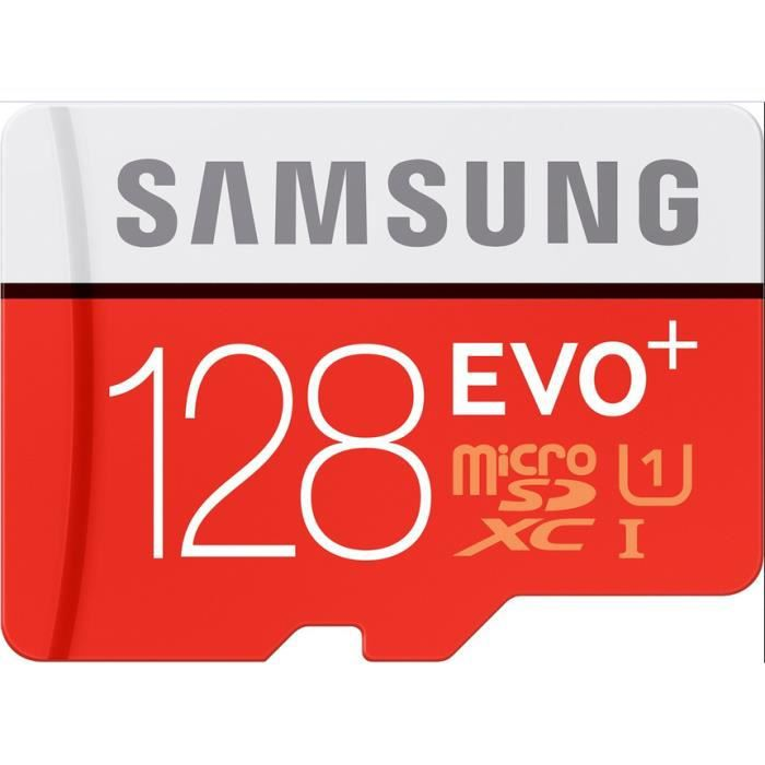 samsung 128go evo plus 80mb s microsd sdxc uhs i cl10 mb mc128da achat vente carte m moire. Black Bedroom Furniture Sets. Home Design Ideas