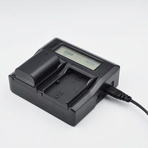 BATTERIE APPAREIL PHOTO Chargeur de batterie double LCD pour Canon LP-E6 -