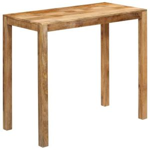 MANGE-DEBOUT Table haute mange debout bar bistrot bois de mangu