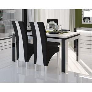 TABLE À MANGER COMPLÈTE Table 180 cm + 6 chaises LINA. Table pour salle à