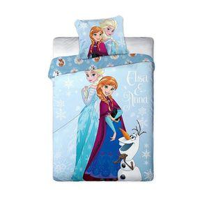 PARURE DE DRAP Parure de lit Anna & Elsa La Reine des Neiges Disn