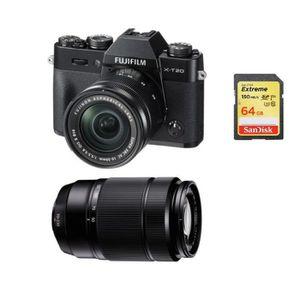 APPAREIL PHOTO RÉFLEX FUJI X-T20 Black KIT XC 16-50mm F3.5-5.6 II Black