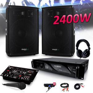 PACK SONO PACK SONO 2400W DJ PA Set BAR CLUB DISCO15B + Ampl