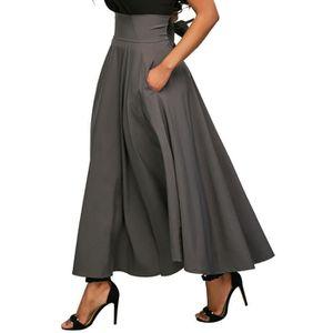 Chers Femme Mousseline Gypsy longue robe maxi jersey jupe élastique 8 10 12 14