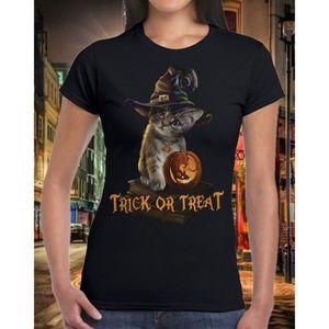 T-SHIRT T-shirt Halloween pour femmes T-shirt imprimé avec
