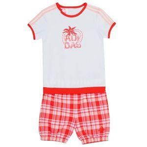 Ensemble de vêtements Ensemble Blanc Fille bébé Adidas Beach Set