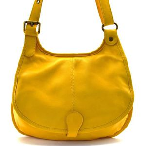 SAC À MAIN Sac à Main CUIR souple femme - Modèle M jaune