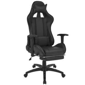 CHAISE Chaise de bureau inclinable avec repose-pied Noir