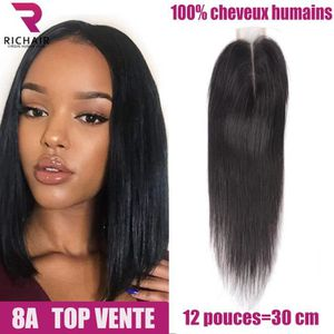 "PERRUQUE - POSTICHE Tissage brésilien 12""2*6 straight Lace Closure 100"