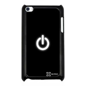 COQUE MP3-MP4 Coque Silicone pour Ipod Touch 4 - Bouton On - 115