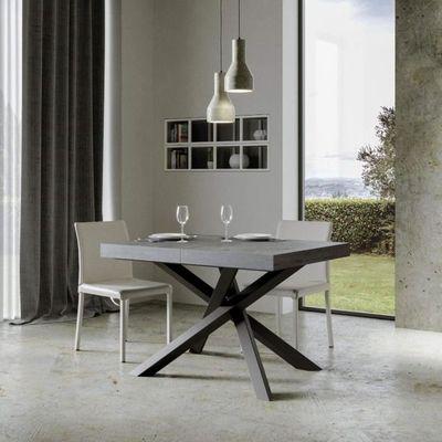 Itamoby Table Extensible Volantis 160 264 Cm Plateau Beton Et
