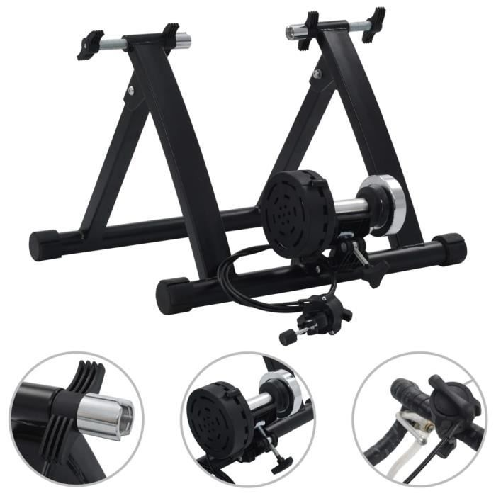 ZHIHU Support à rouleau pour vélo d'appartement 26po-28po Acier Noir #1