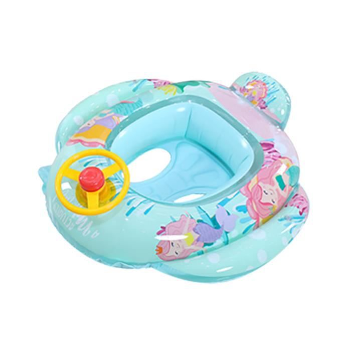 Articles de natation Bateau de volant de cercle d'anneau gonflable flottant de cou de bain de piscine de bébé YIN200504005GN_vir