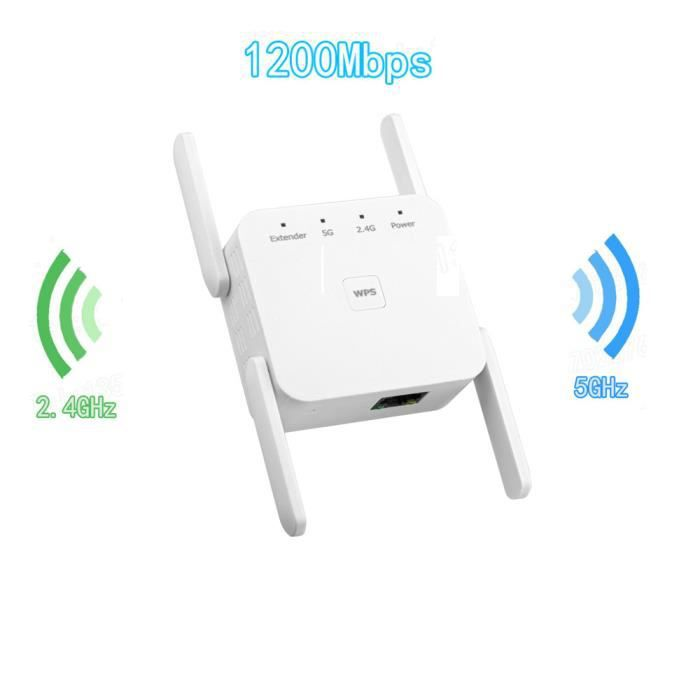 Amplificateur double bande de signal d'amplificateur de gamme de répéteur WiFi sans fil 1200Mbps Sji Zua 09