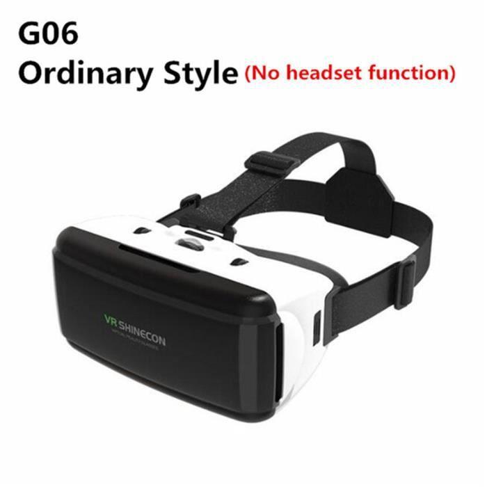 Étui à lunettes VR 3D original Casque stéréo en carton VR Google, adapté au téléphone intelligent Android IOS, commutateur Bluetooth