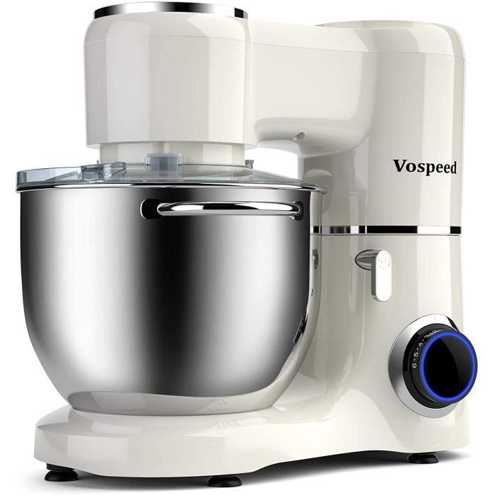 robot patissier Vospeed Robot Patissier 1500W 8L gateau meacutelangeur eacutelectriquecuisine Food Mixer avec acier inoxydable B33