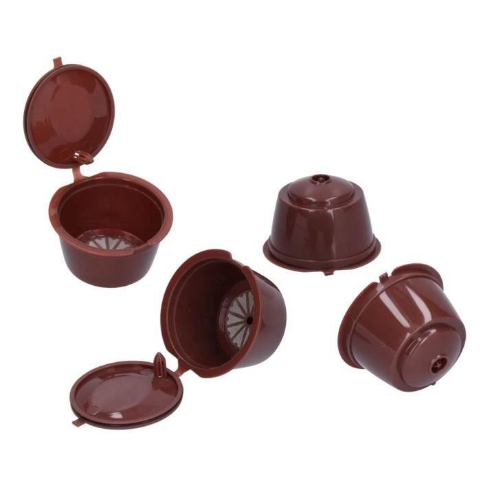 capsule de café réutilisable Filtre à café réutilisable à capsule de café rechargeable pour machine Dolce Gusto avec brosse