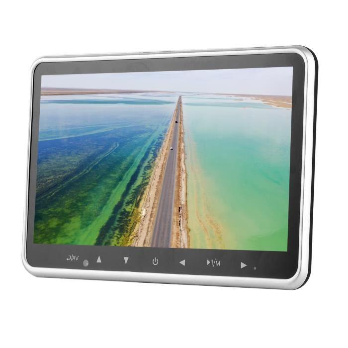 VGEBY TV d'appui-tête de voiture Moniteur d'appui-tête de voiture 10.1in Untra Thin TV Pillow Display Back Row MP5 Mount Screen