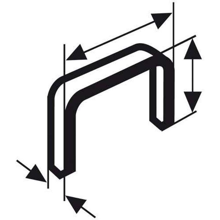 BOSCH Agrafe à fil fin type 53 11,4 x 0,74 x 14 mm x1000