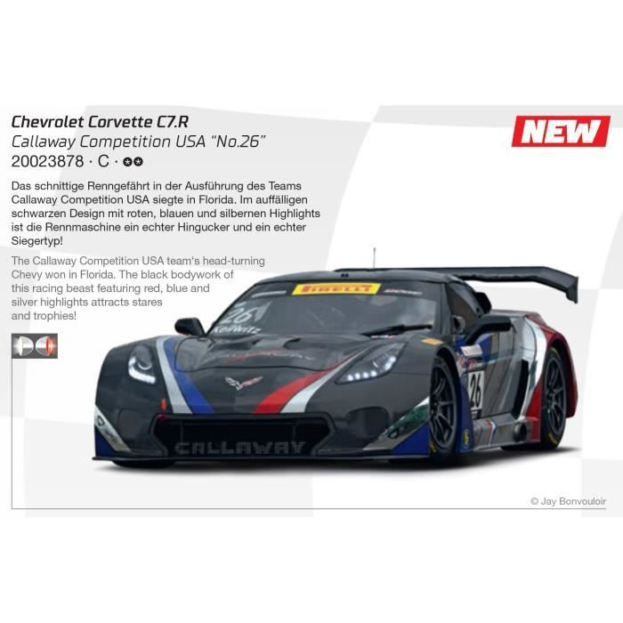 Carrera DIGITAL 124 23878 Chevrolet Corvette C7.R Callaway Competition USA 'No.26'