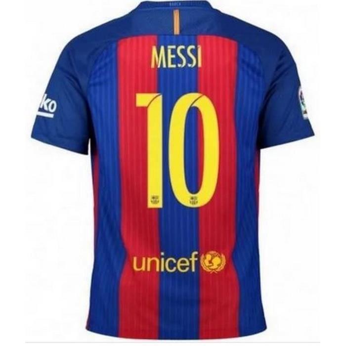 Maillot Nike Enfant FC Barcelone flockage Officiel Messi Numéro 10 Saison 2016-2017