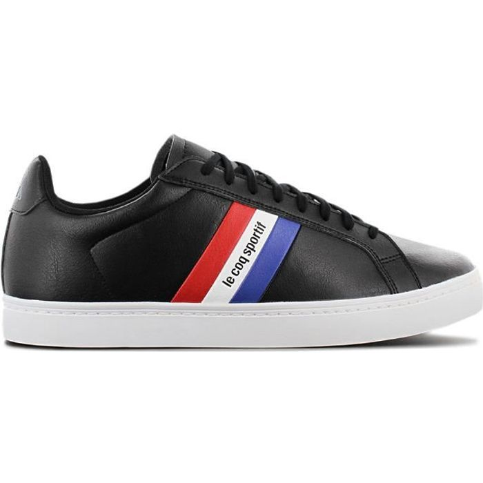Le Coq Sportif Courtflag - Hommes Baskets Sneakers Chaussures de sport Noir 1911451