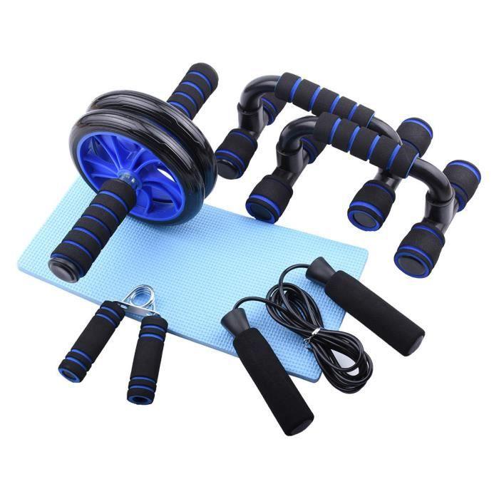 Ensemble de roues abdominales corde à sauter pince à main support push-up équipement de fitness sports à domicile
