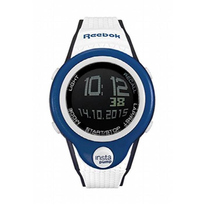 Reebok Pump Instapump Digital Chrono Watch Blue White And Black Rc-pip-g9-plpw-bw WC41W
