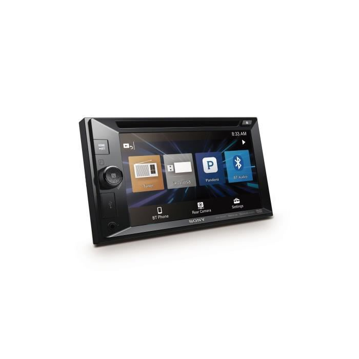 SONY - Autoradio 6,2- - 2 DIN XAV-W651BT - 4x55W - CD/DVD, USB - Bluetooth - Noir
