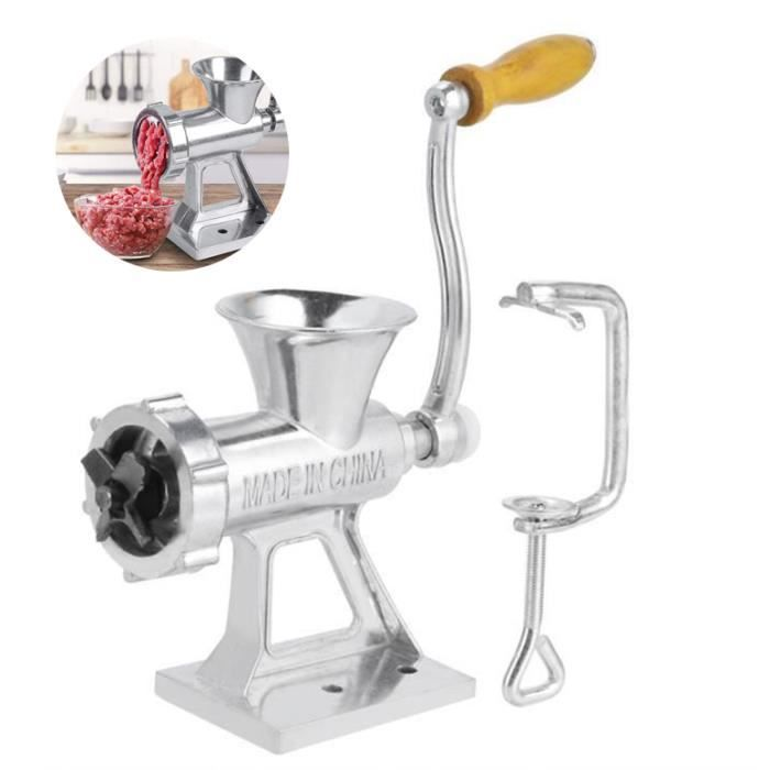 TD® Hachoir à viande manuel multifonctionnel / Machine manuelle de hachage de viande/ Légumes / Épices Saucisses / Acier et Fer