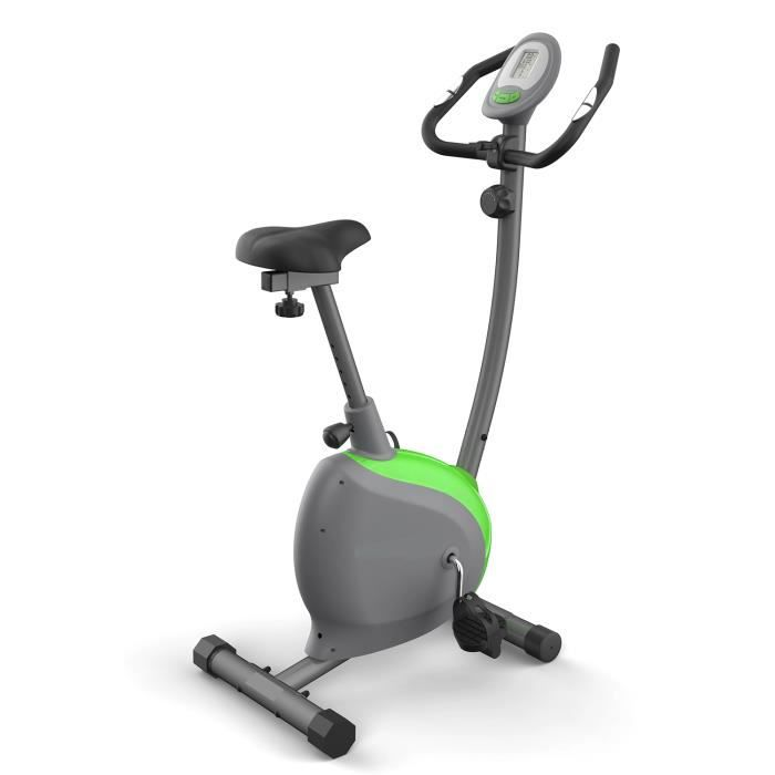 Vélo d'appartement avec bandes de résistance 8 niveaux de résistance magnétique avec capteur de pouls Cyclisme doux et silencieux