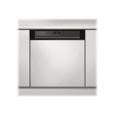 Whirlpool - lave-vaisselle 60cm 14c 44db a++ intégrable avec bandeau noir - wbc3c24pb