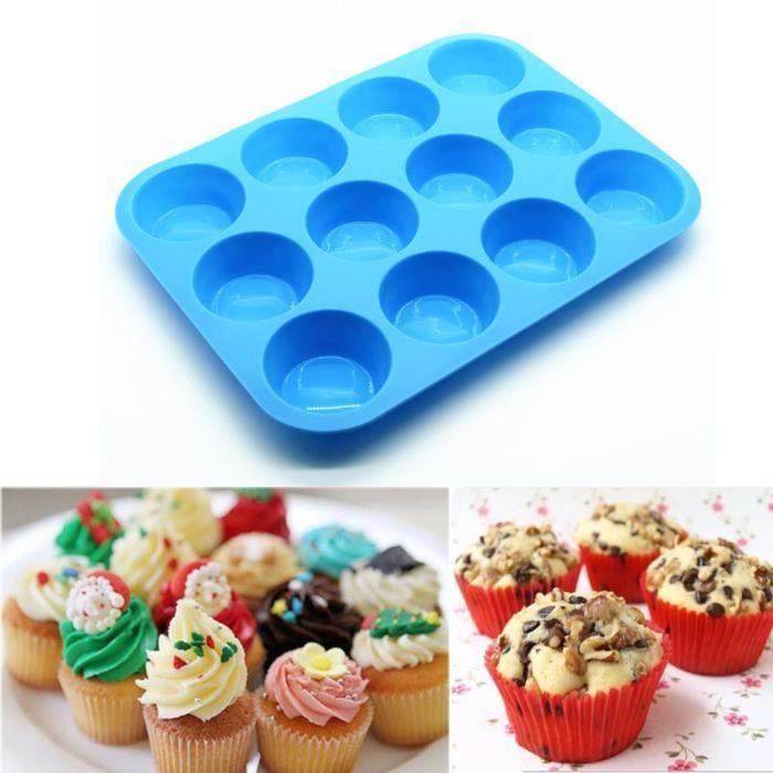 MOULE  Moule à gâteaux en silicone avec 12 tasses Moule à