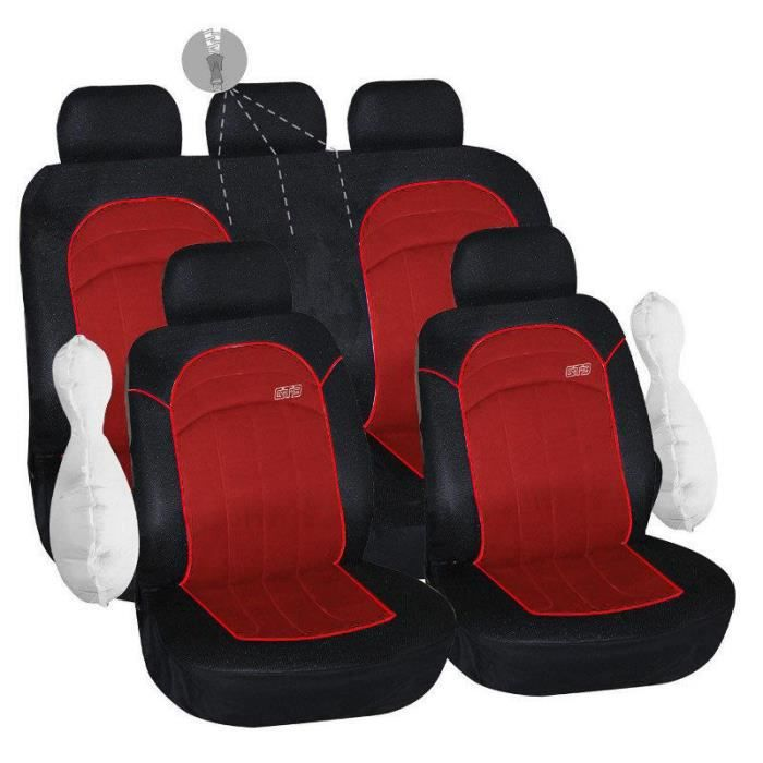 housses de si ge rouge pour renault clio 4 iv 178. Black Bedroom Furniture Sets. Home Design Ideas
