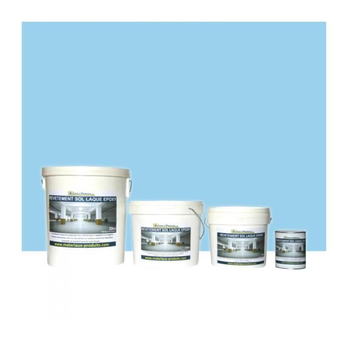peinture de sol laque epoxy bleu piscine 1 kg bleu piscine. Black Bedroom Furniture Sets. Home Design Ideas